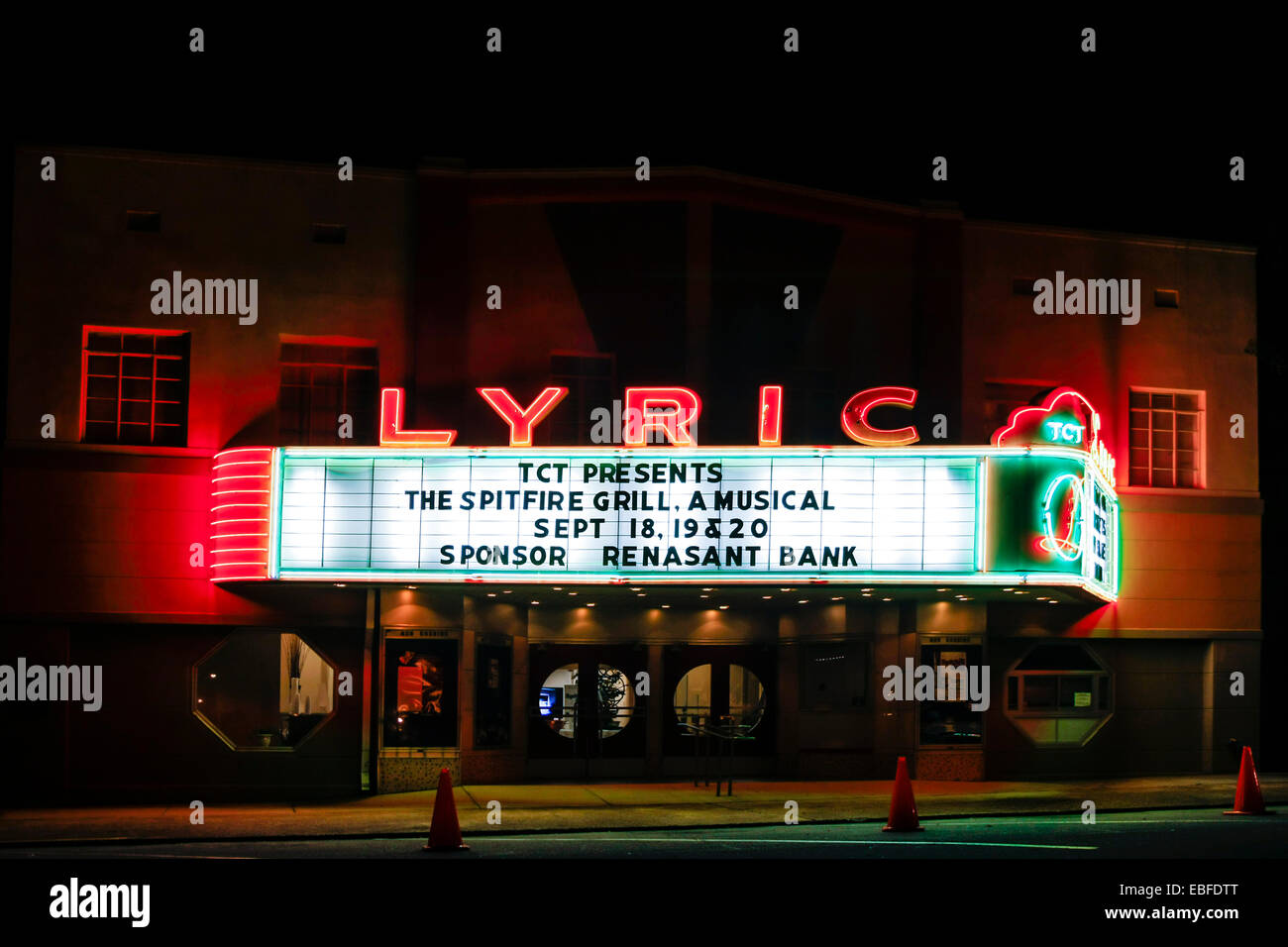 The Lyric Cinema in Tupelo Mississippi visited by Elvis as a boy - Stock Image