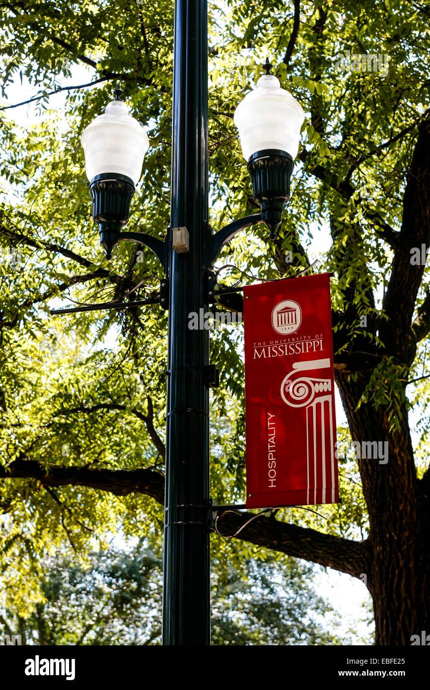 University of Mississippi banner, Oxford MS - Stock Image