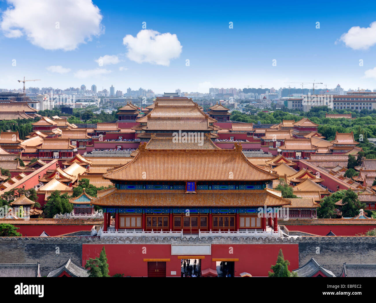 Aerial View Of The Forbidden City Beijing China
