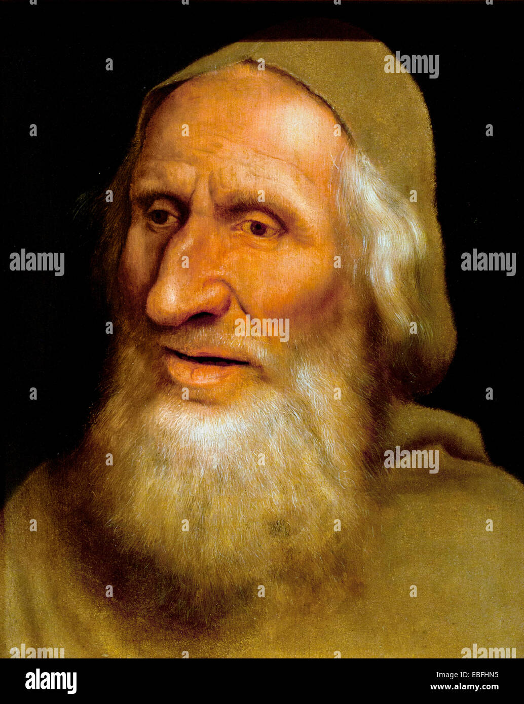 Head of an Old Man 1525  METSYS Quentin  1466-1530 Belgian Belgium Flemish - Stock Image