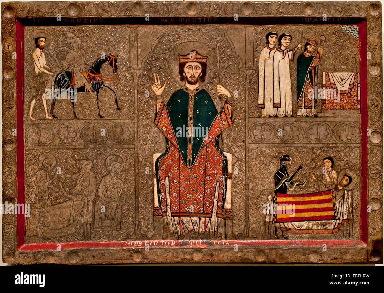 Iohannes Ribagorça13th century Medieval Romanesque Church of Sant Martí de Gia or Xia (Alta Ribagorça, - Stock Image