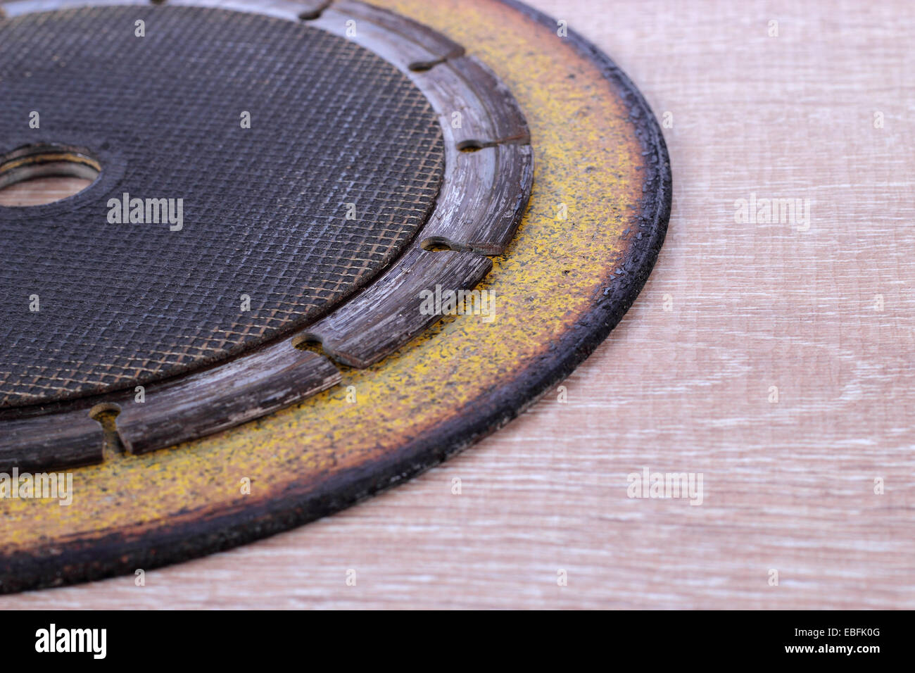 Some disks different diameter for the Angle Grinder. - Stock Image