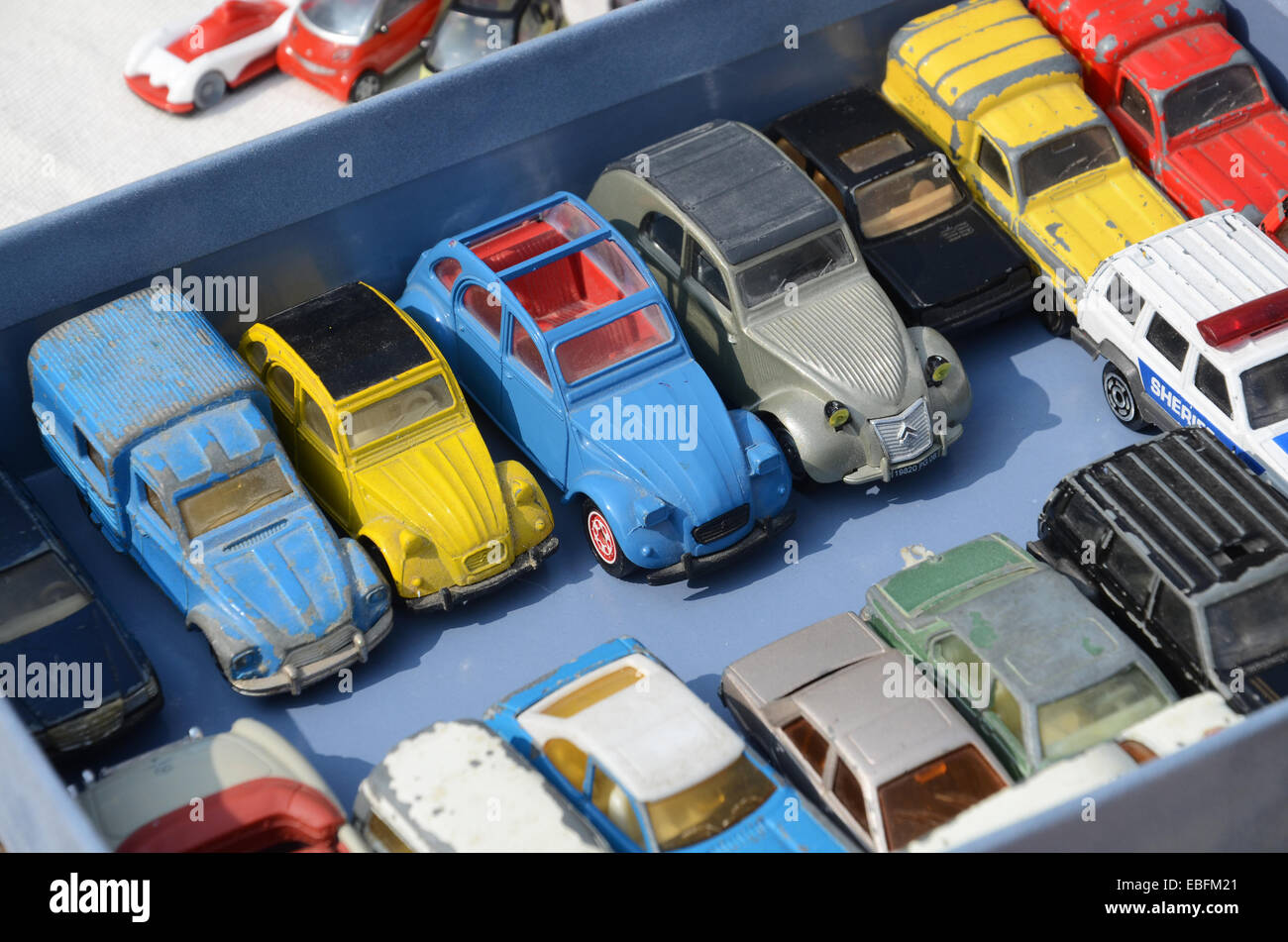 toy car collection display stock photos toy car collection display stock images alamy. Black Bedroom Furniture Sets. Home Design Ideas
