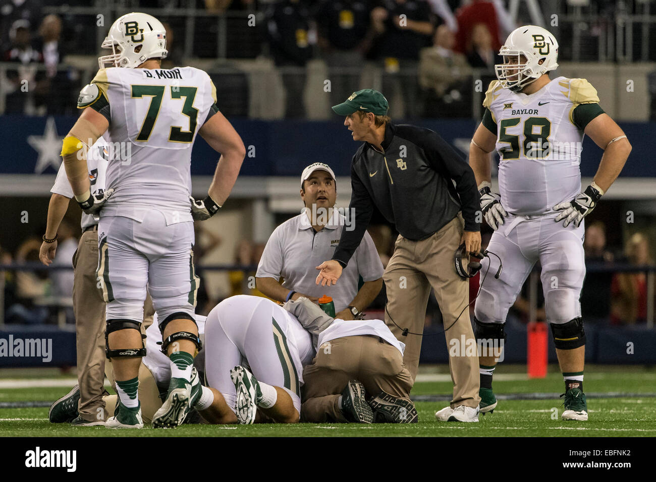 November 29 2104 Baylor Bears Head Coach Art Briles And The Stock Photo Alamy
