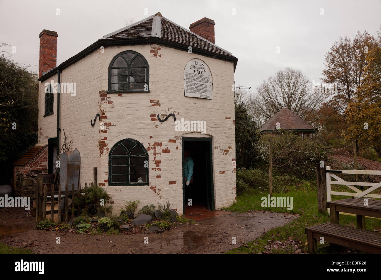 Eighteenth century toll house in a museum setting. Avoncroft Museum of Buildings, Worcs UK - Stock Image