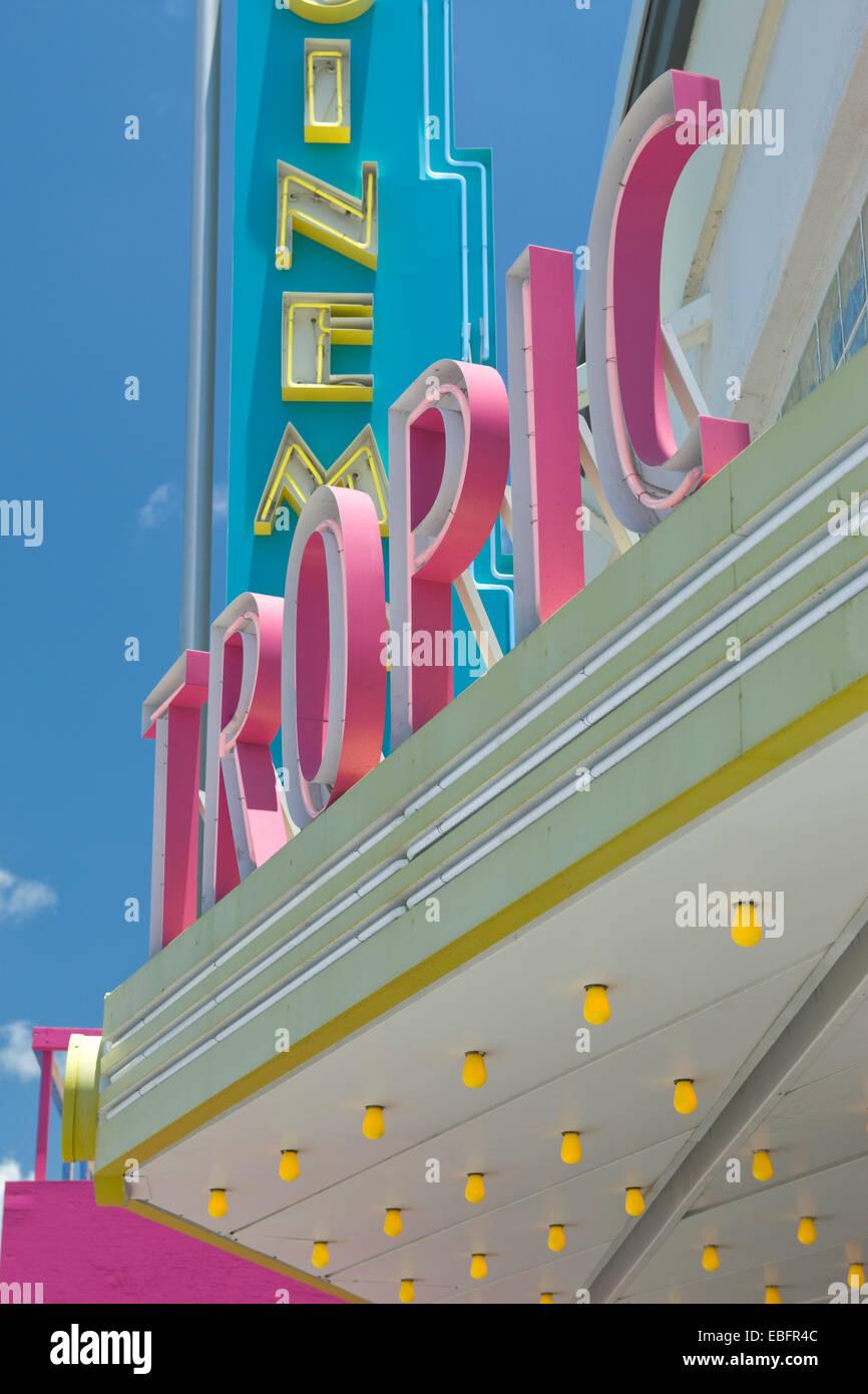 TROPIC CINEMA AWNING KEY WEST FLORIDA USA - Stock Image
