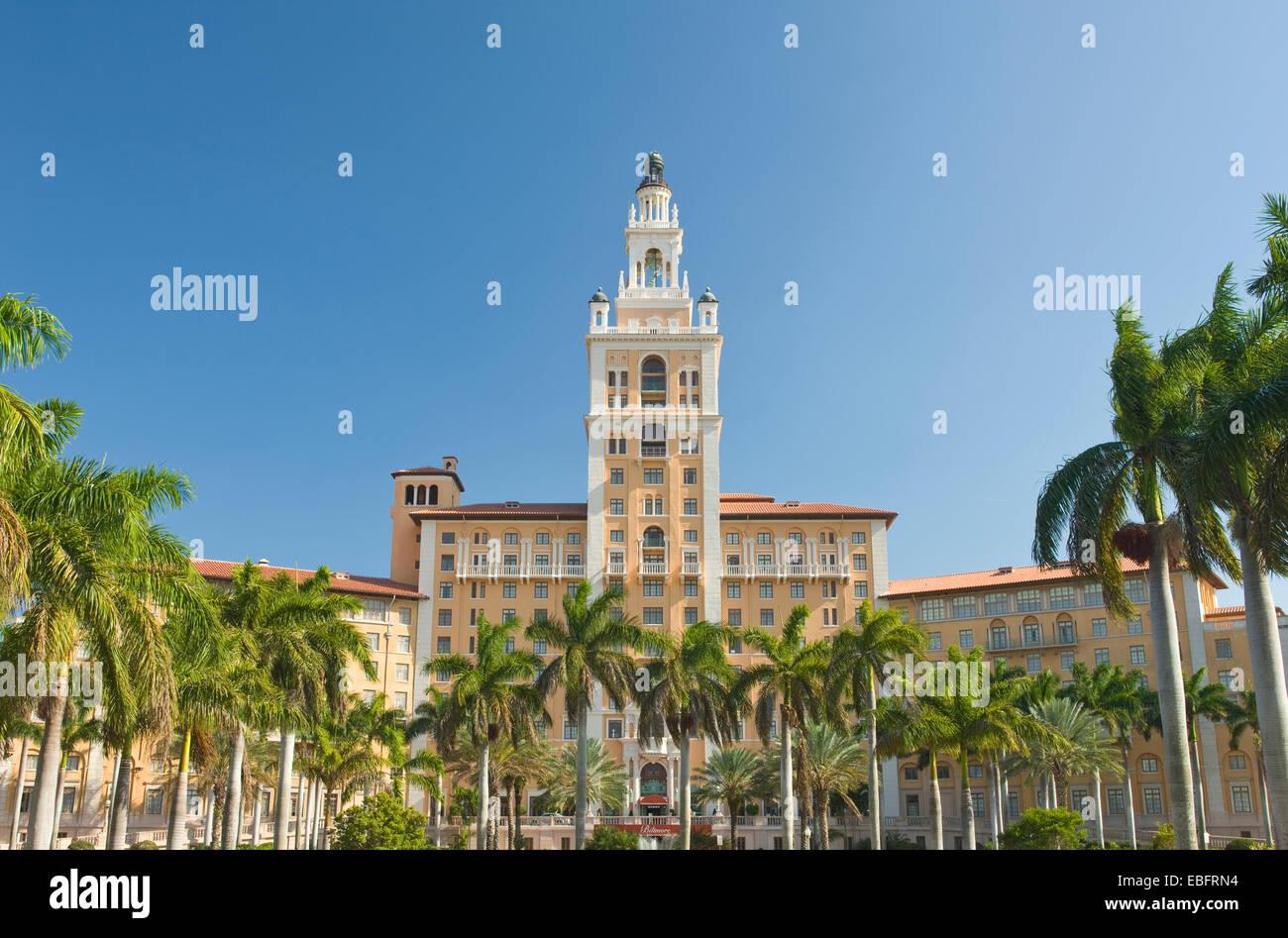 HISTORIC BILTMORE HOTEL CORAL GABLES MIAMI FLORIDA USA - Stock Image