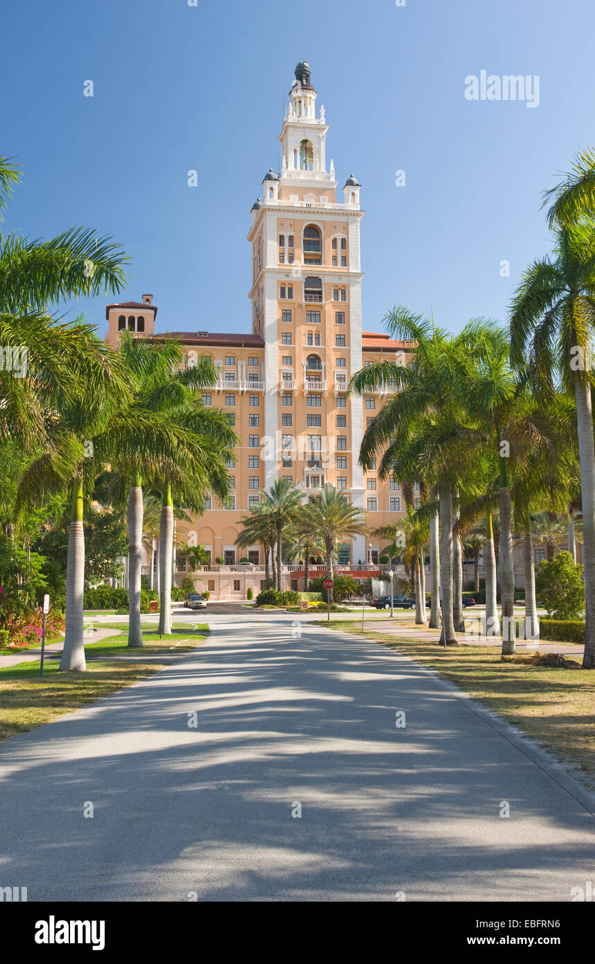 HISTORIC BILTMORE HOTEL CORAL GABLES MIAMI FLORIDA USA Stock Photo