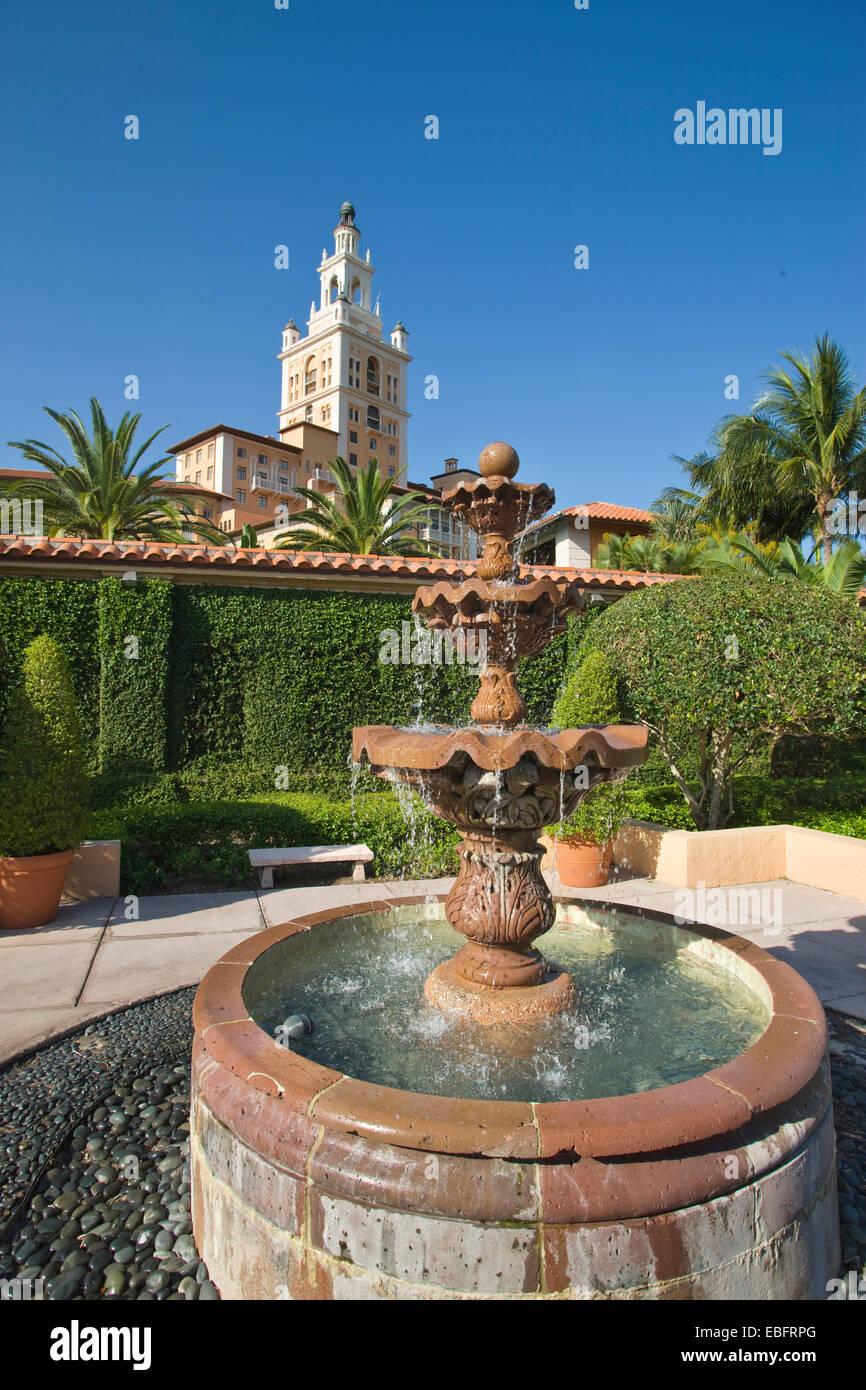 FOUNTAIN GARDENS HISTORIC BILTMORE HOTEL CORAL GABLES MIAMI FLORIDA USA - Stock Image