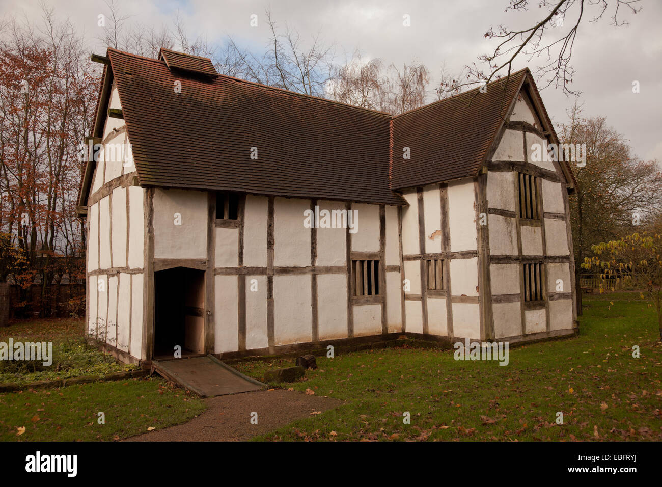 Merchants house in Avoncroft museum, Bromsgrove Worcs UK - Stock Image