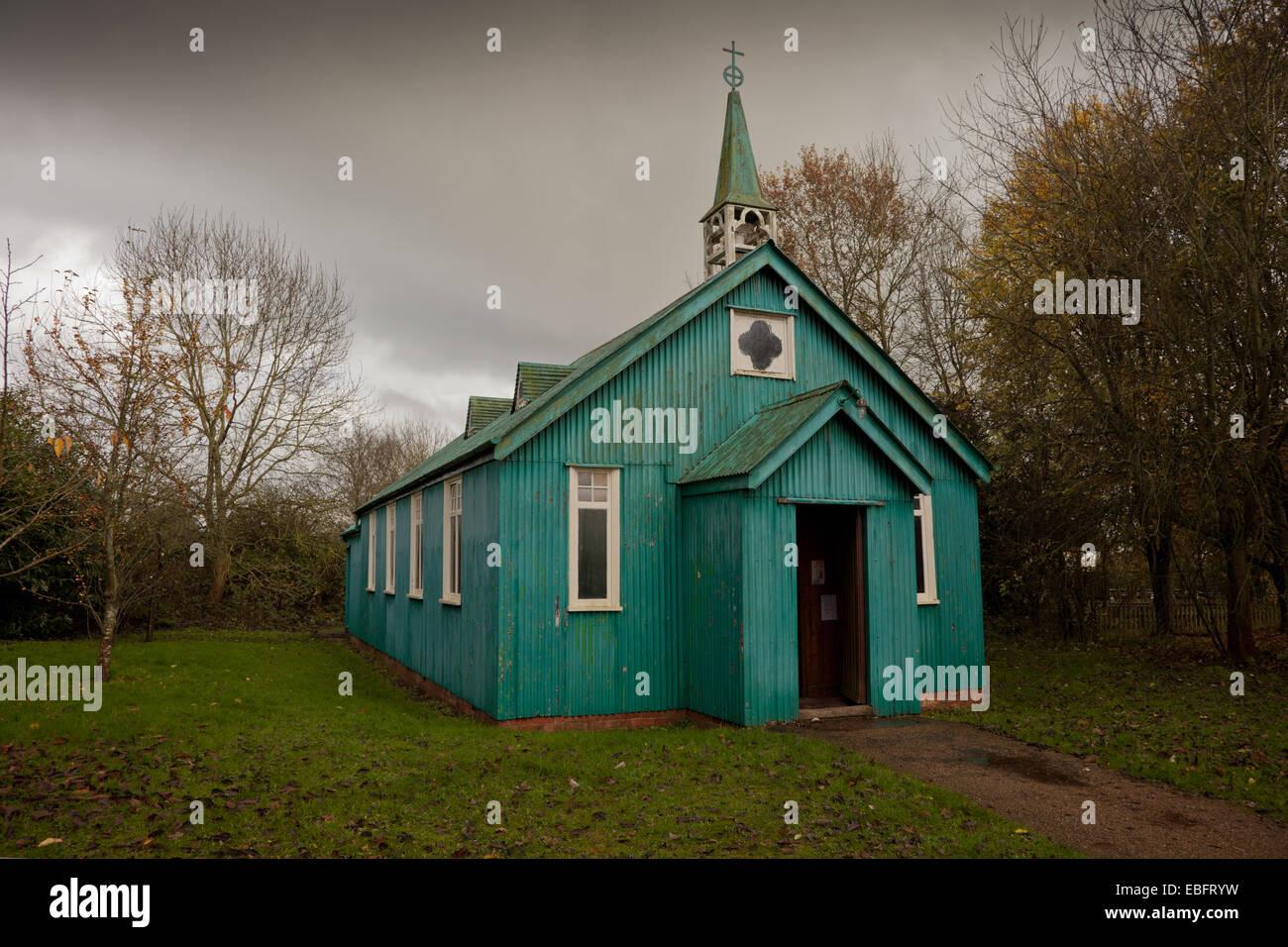The Victorian Mission Church, Avoncroft, Bromsgrove, Worcs UK - Stock Image