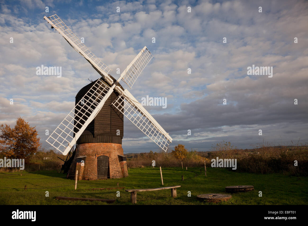 Windmill in Avoncroft museum, Bromsgrove Worcestershire UK - Stock Image