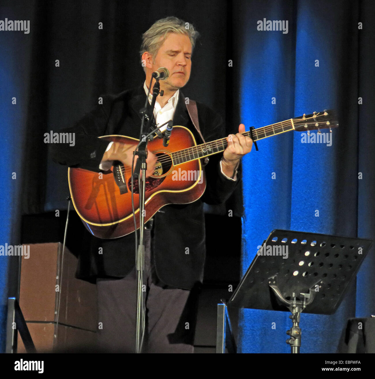 Lloyd Cole live Warrington Parr Hall, Cheshire, England, UK acoustic set 30/11/2013 - Stock Image