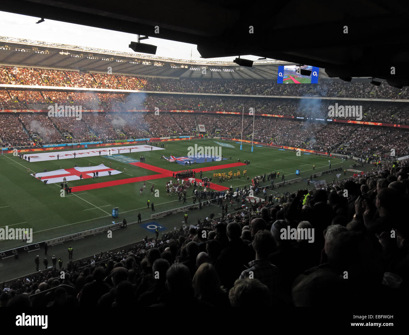 English Rugby starts at Twickenham, London, England, UK - Stock Image