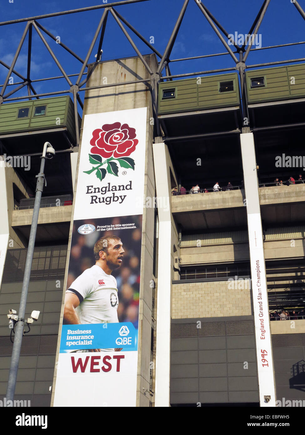 English Rugby at Twickenham West stand, London, England, UK - Stock Image