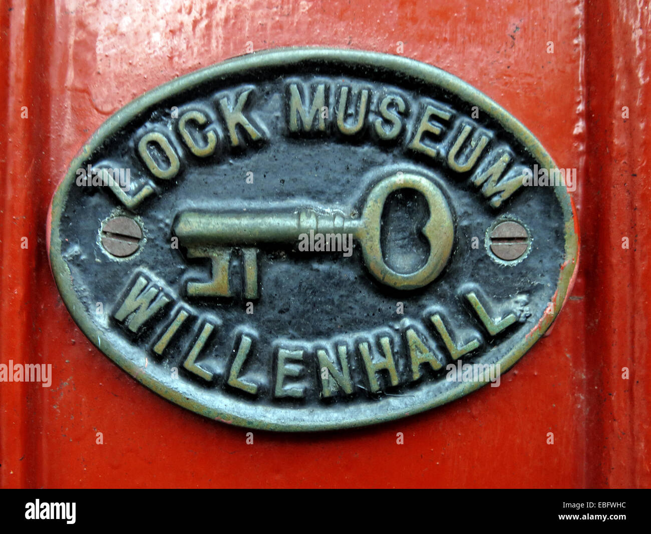 Sign from Willenhall Lock Museum, Walsall West Midlands, England, United Kingdom - Stock Image