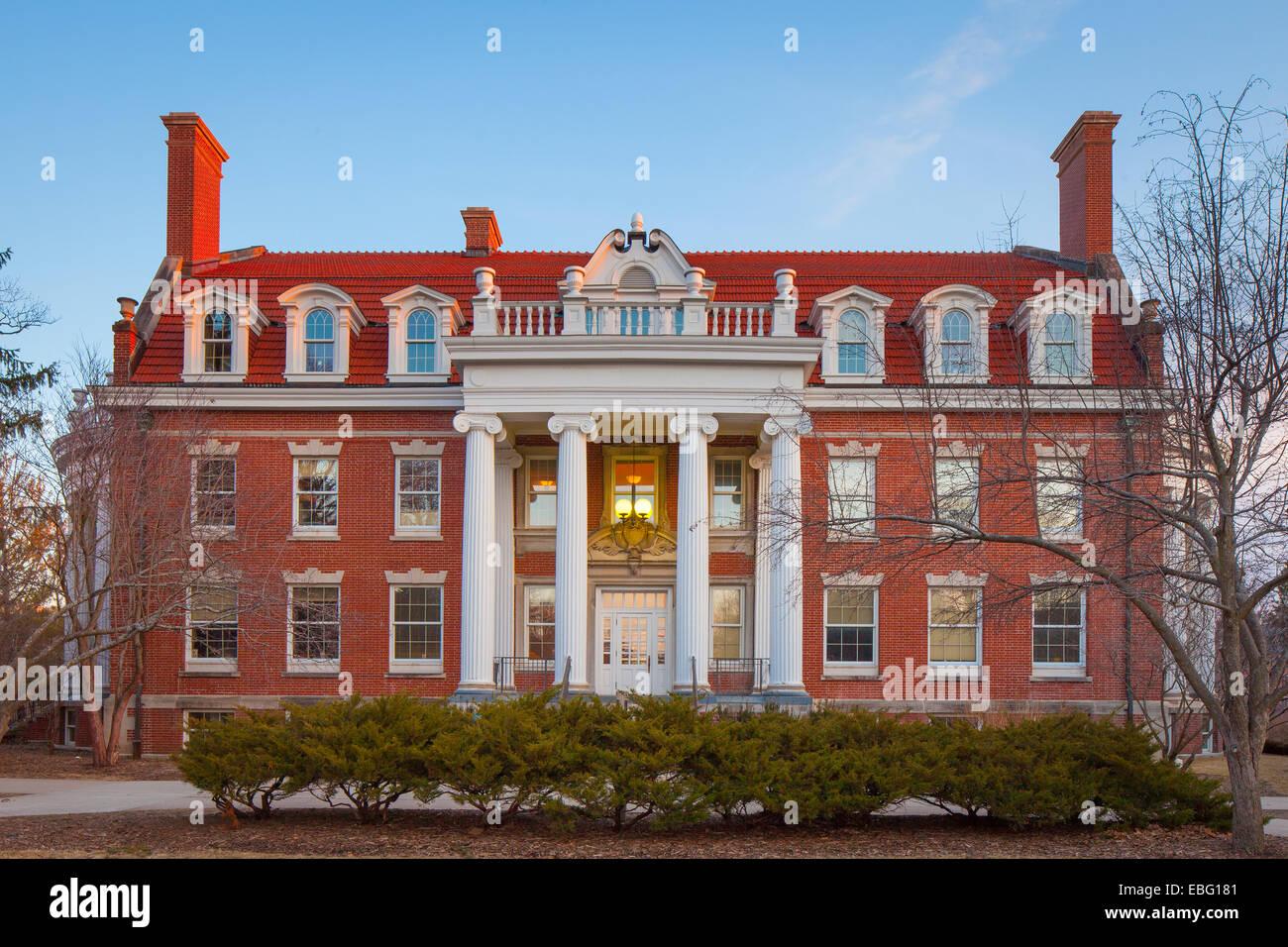 Alumni Hall, Iowa State University, Iowa. - Stock Image