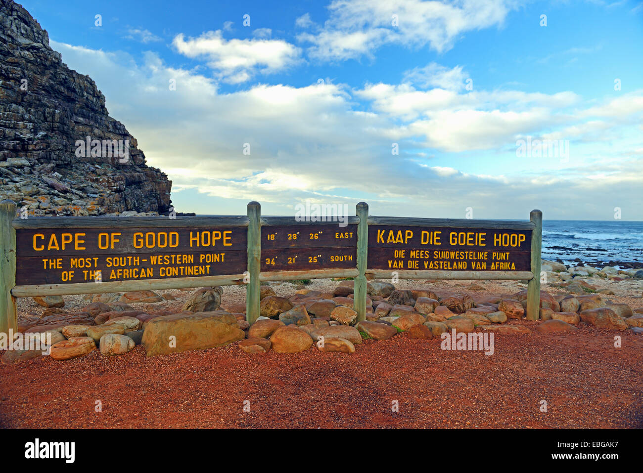 Sign, Cape of Good Hope, Cape of Good Hope, Western Cape, South Africa - Stock Image