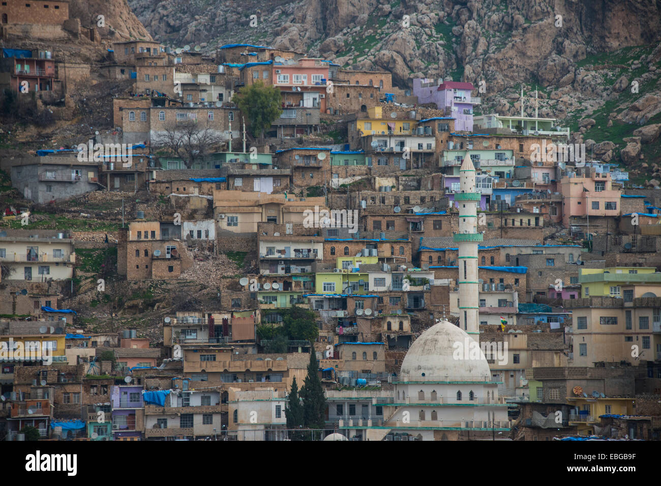 Ancient town of Aqrah, Aqrah, Iraqi Kurdistan, Iraq - Stock Image