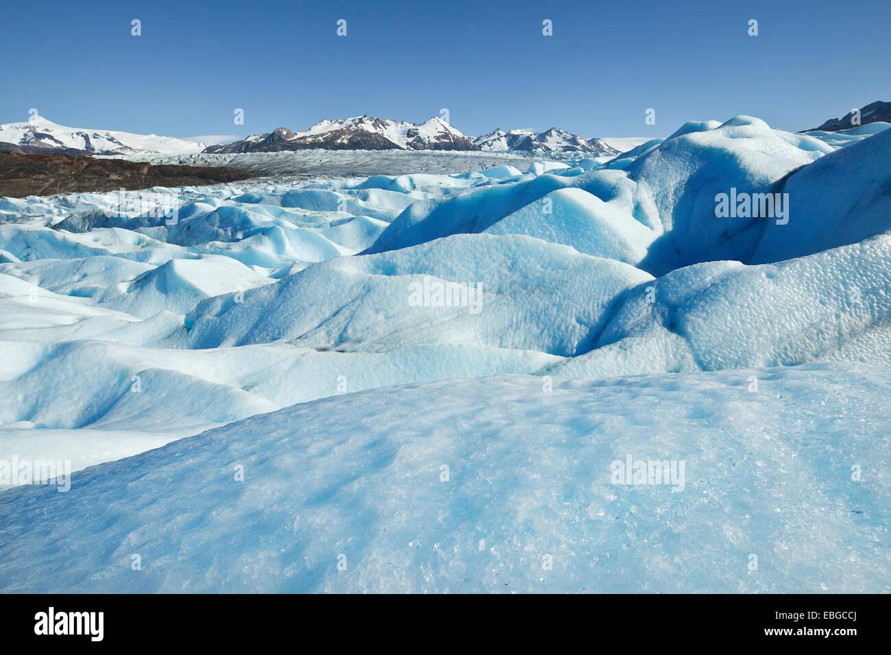Grey Glacier, glacier tongue, Torres del Paine National Park, Chile - Stock Image