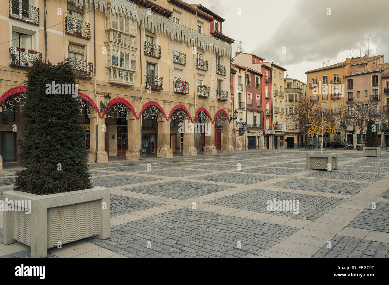 Portales Street is a street in the old town of Logroño, La Rioja, Spain, Europe, - Stock Image