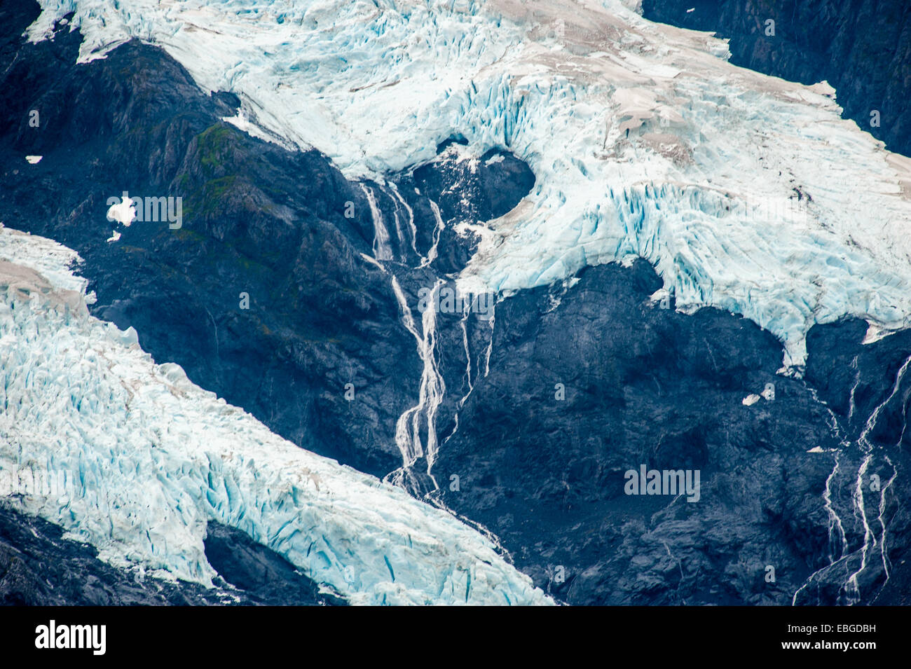 Byron Glacier in portage valley, Alaska - Stock Image