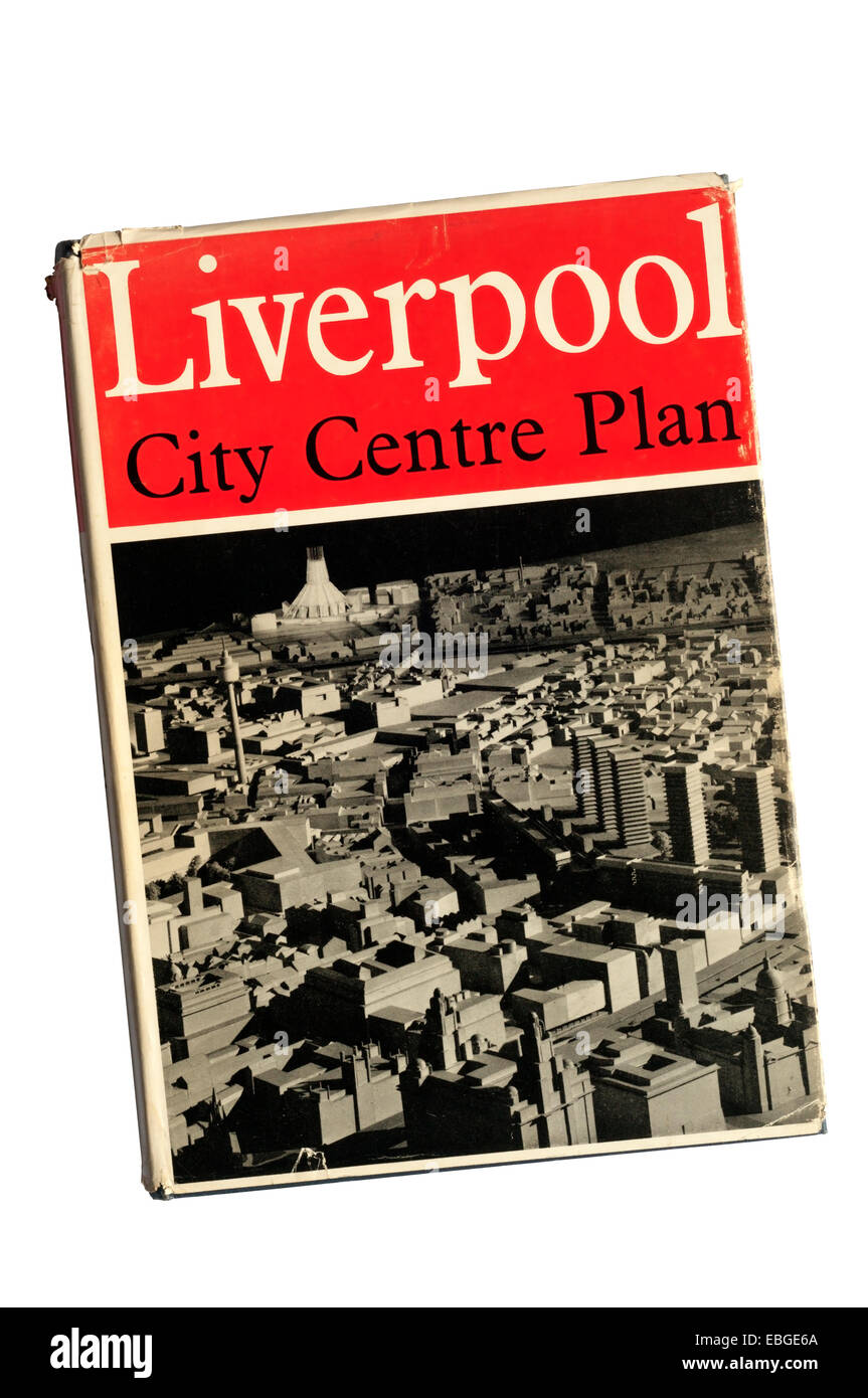 Liverpool City Centre Plan 1965. - Stock Image