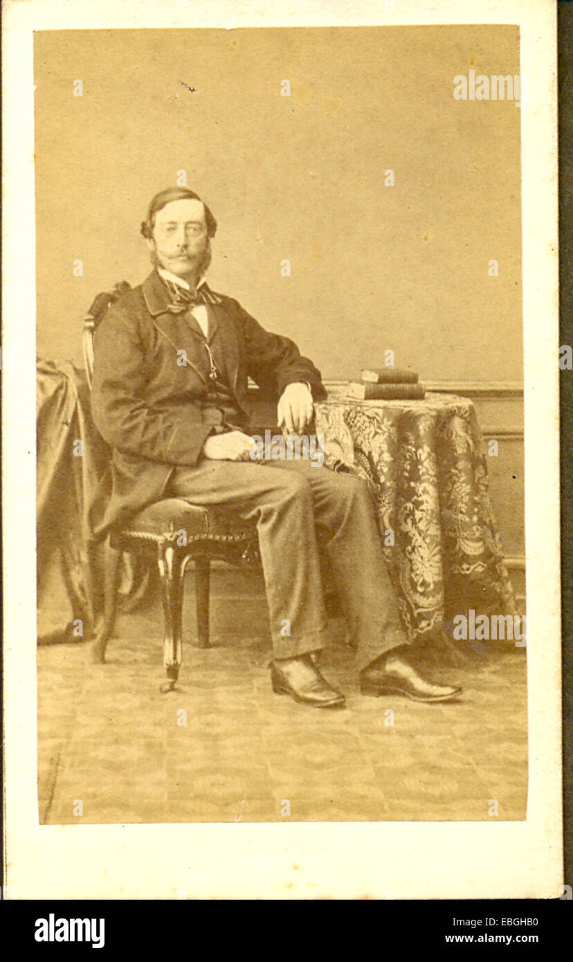 Carte de visite portrait of Lord Cecil Brownlow - Stock Image