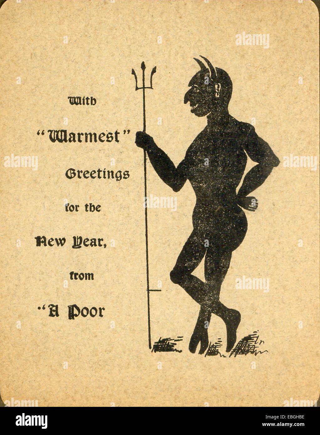 Victorian humorous greeting card - Stock Image
