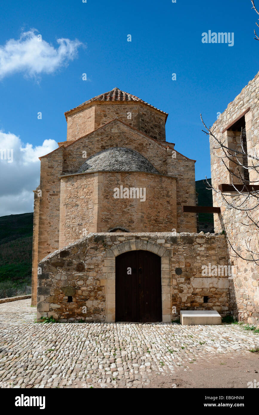 The abandoned Monastery of Panagia tou Sinti in the Xeros Vally Cyprus Stock Photo