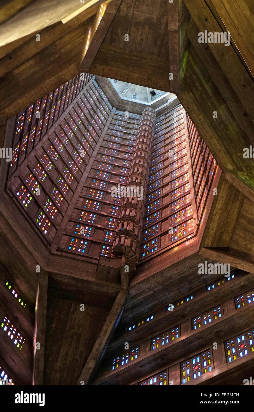 st joseph's church, le havre, normandy, france - Stock Image