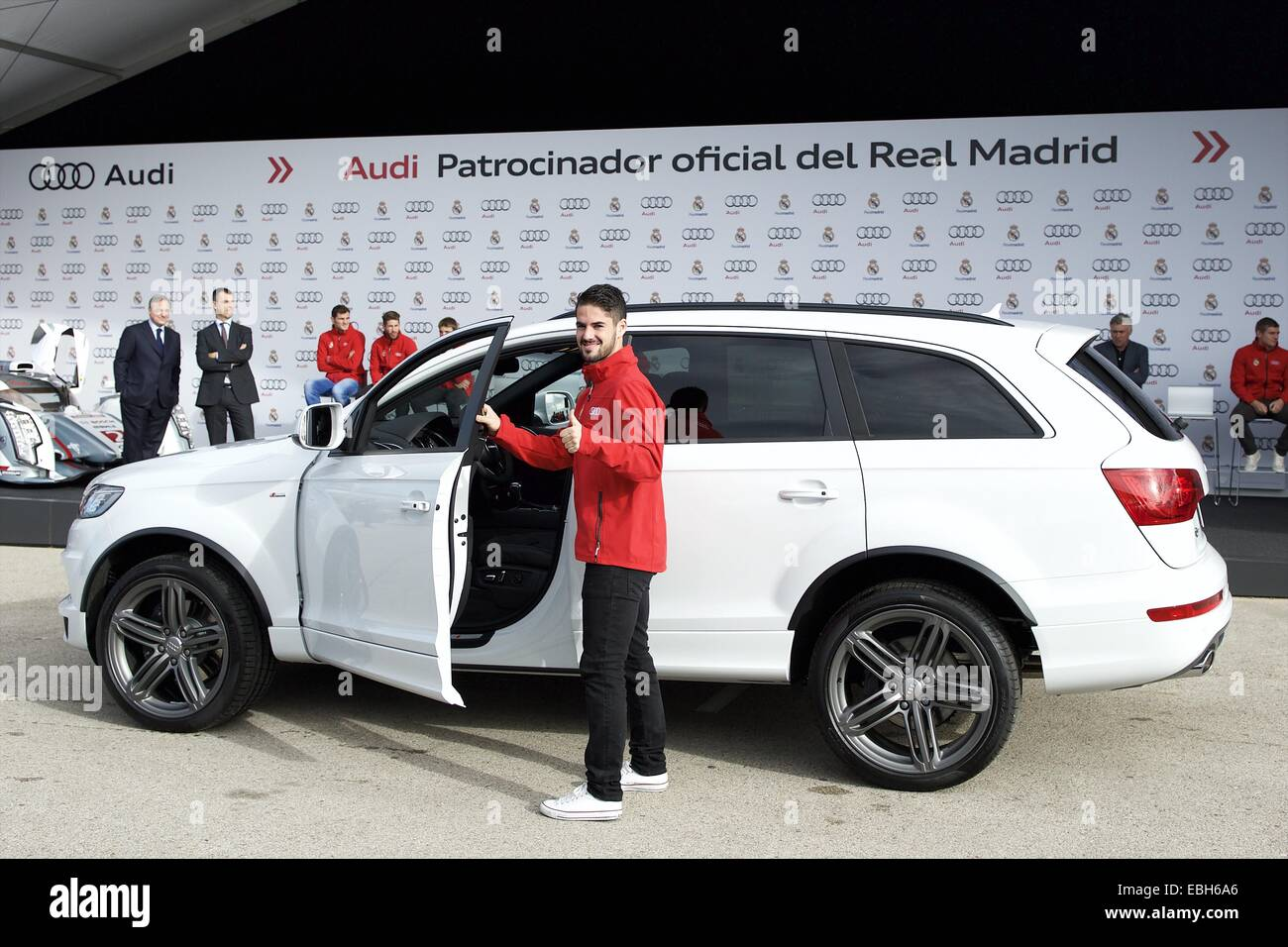 1st Dec, 2014. Isco Received The New Audi Car During The Presentation Of  Real Madridu0027s New Cars Made By Audi At Valdebebas On December 1, 2014 In  Madrid, ...