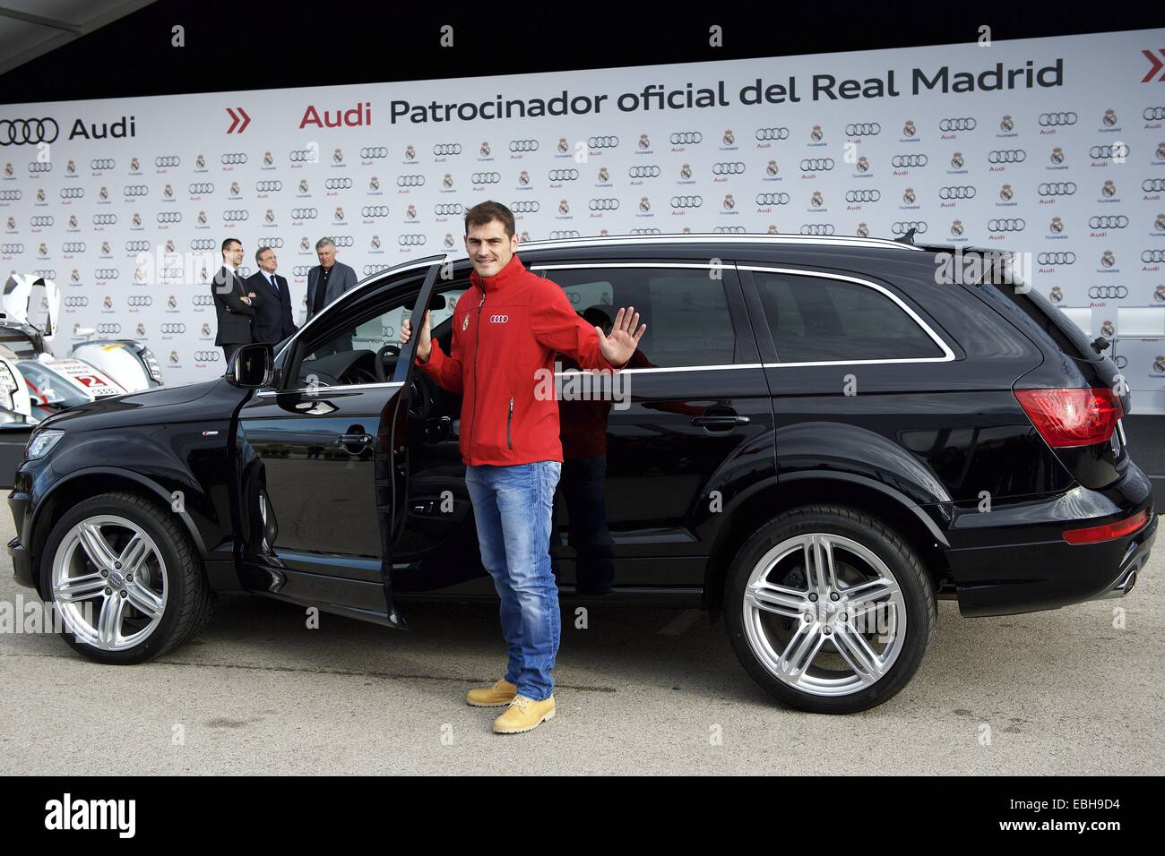 1st Dec, 2014. Iker Casillas Received The New Audi Car During The  Presentation Of Real Madridu0027s New Cars Made By Audi At Valdebebas On  December 1, ...