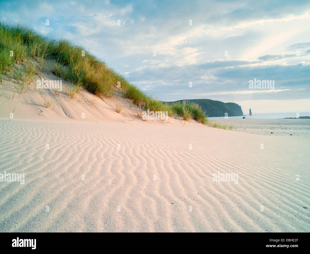 Remote Sandwood Bay, Cape Wrath, North West Highlands of Scotland - Stock Image