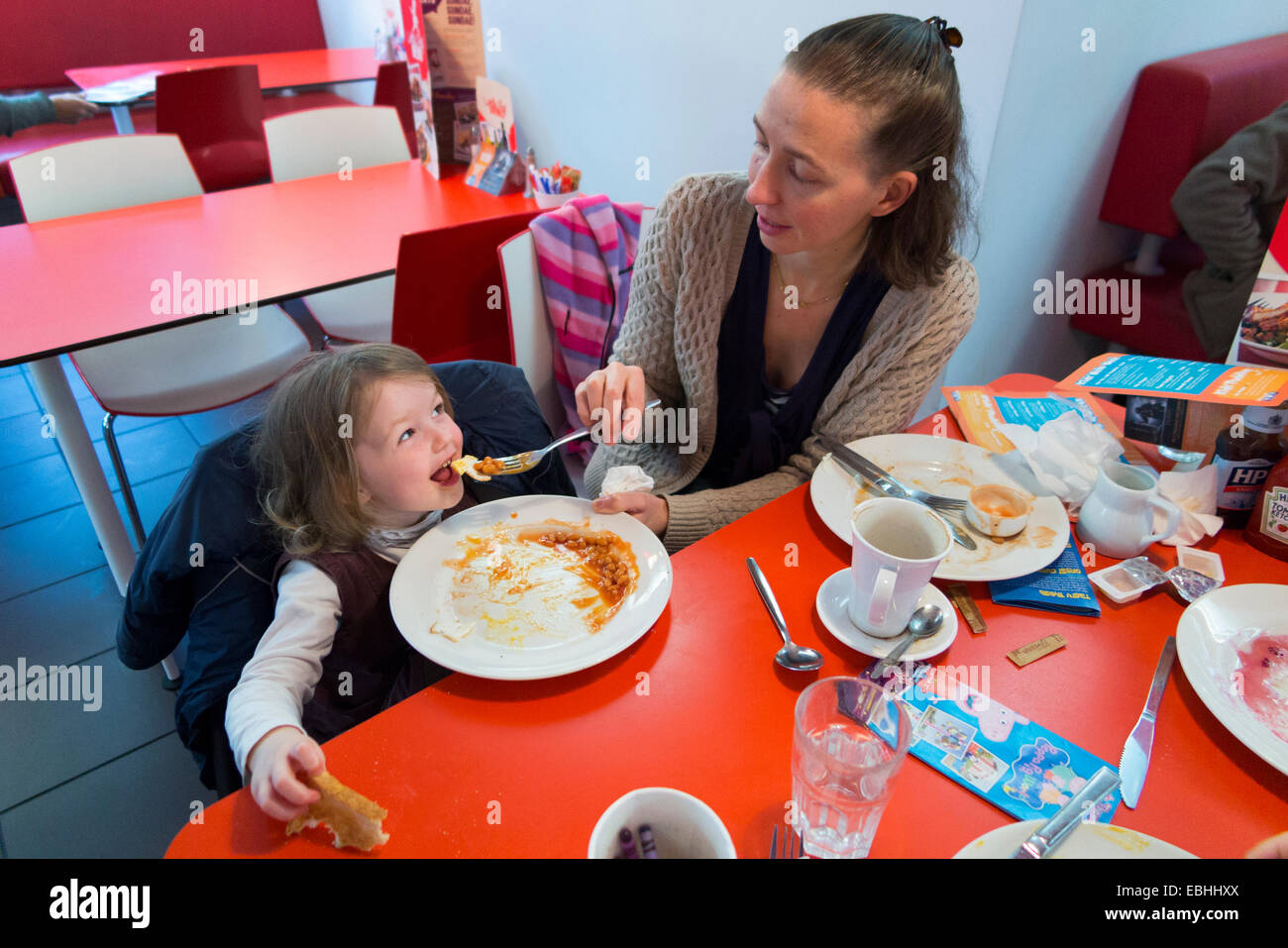 People Inside American Diner Style Restaurant Stock Photos