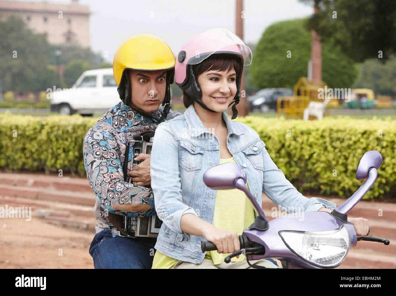 P.K.  2014 UTV Motion Pictures film with Aamir Khan and Anushka Sharma - Stock Image