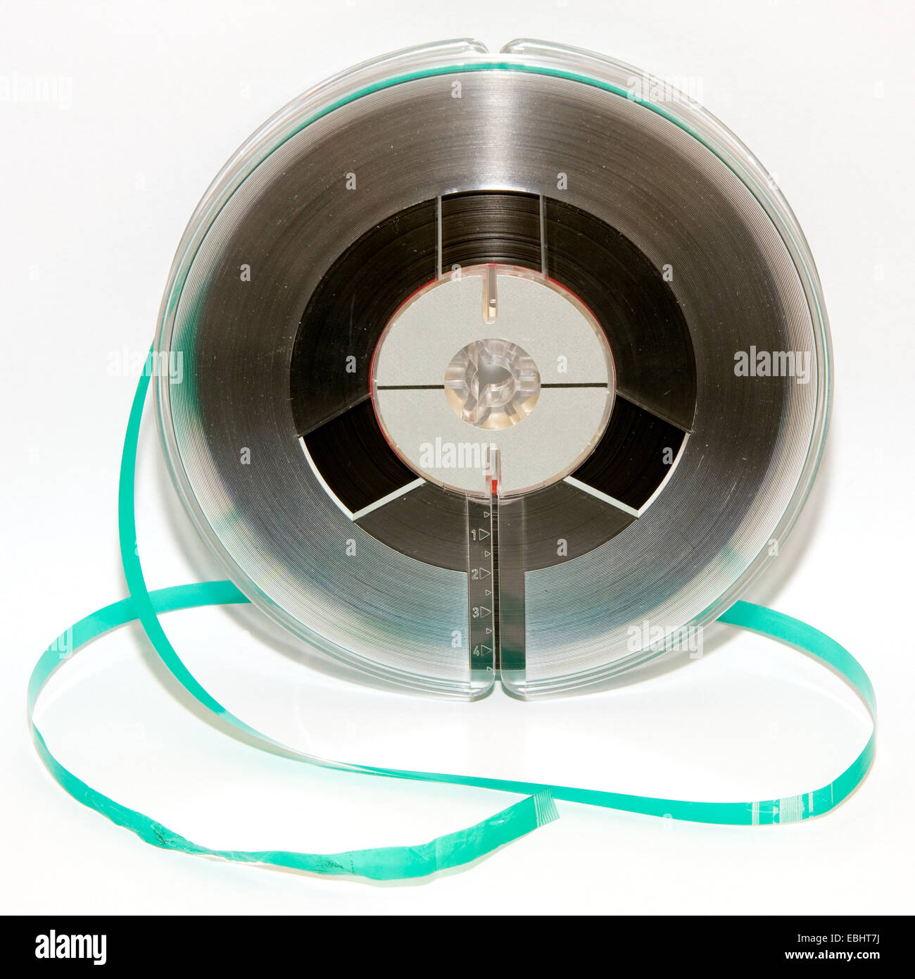 Old magnetic tape reel, used for analog sound recording - Stock Image