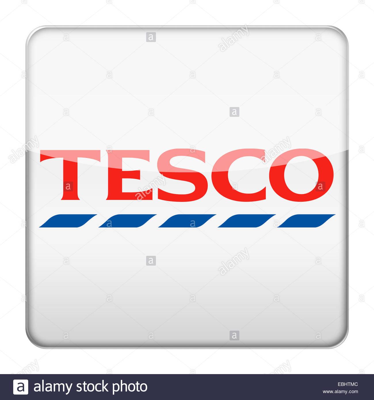 Tesco logo icon - Stock Image