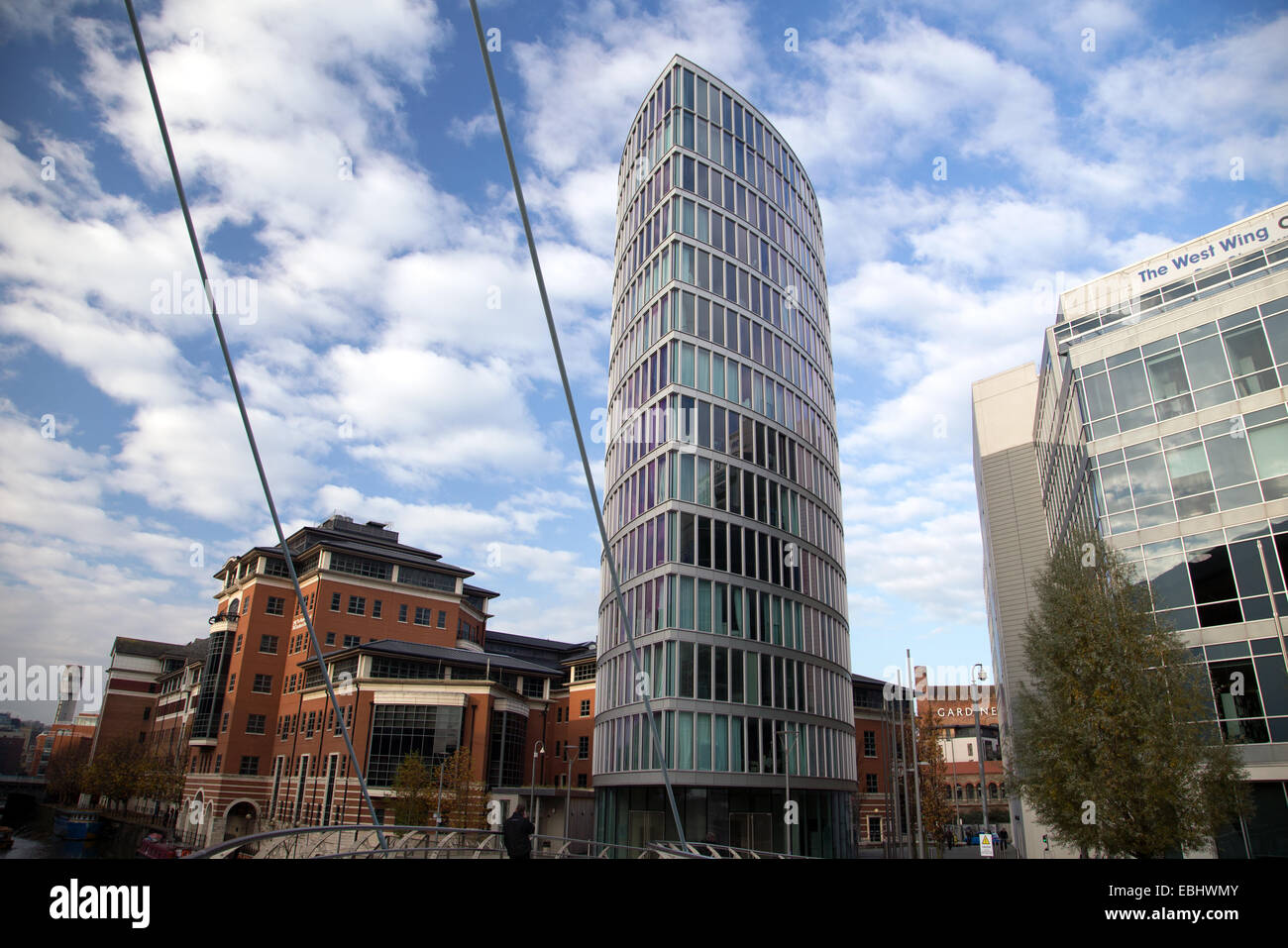 Temple Quays in Bristol's Temple Quarter regeneration zone with office buildings - Stock Image