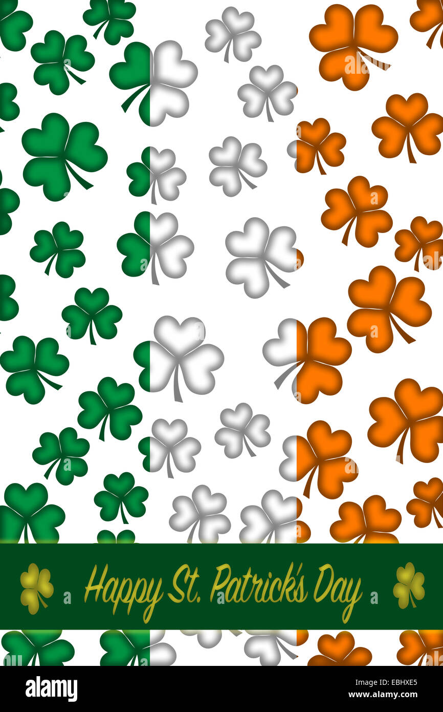 St patricks day greeting card with backdrop a border clover and st patricks day greeting card with backdrop a border clover and text happy st patricks day m4hsunfo