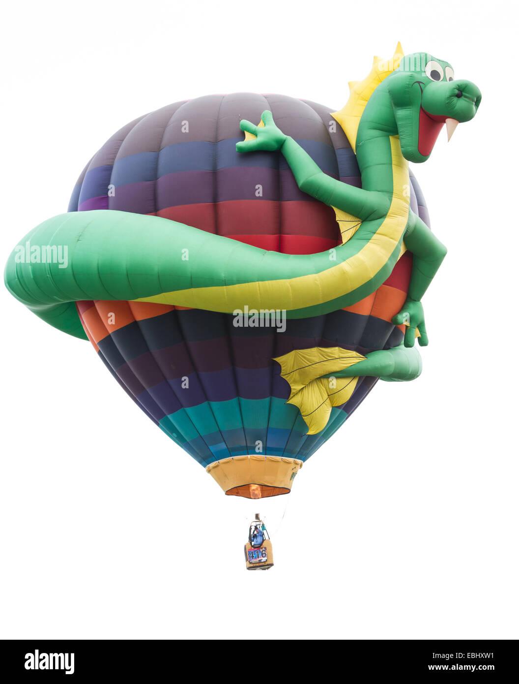 Albuquerque New Mexico - October 8 : fun dragon ballon at the special shape competition at the Balloon Fiesta, October - Stock Image