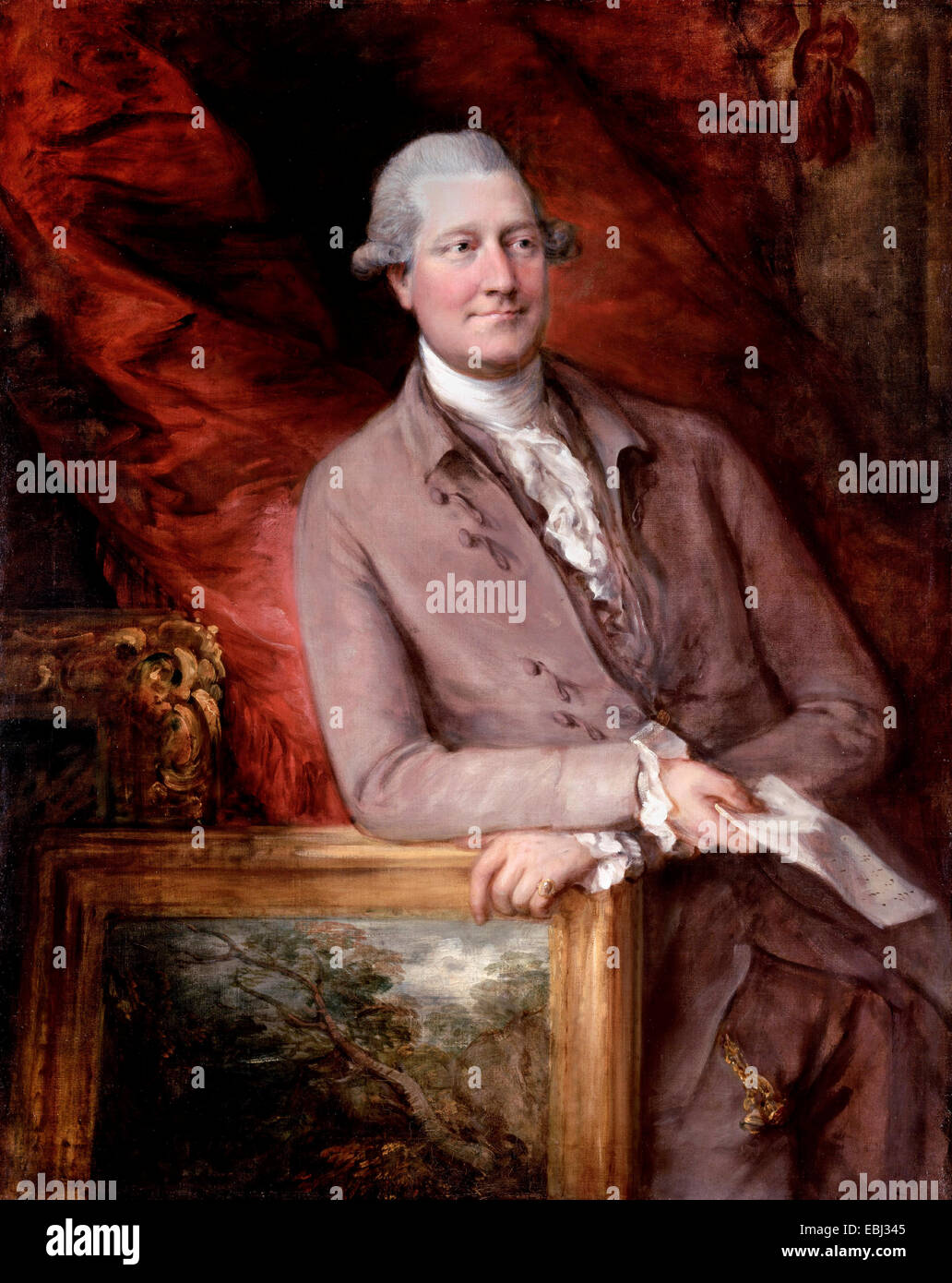 Thomas Gainsborough, Portrait of James Christie 1778 Oil on canvas. . Paul Getty Museum, Los Angeles, USA. - Stock Image