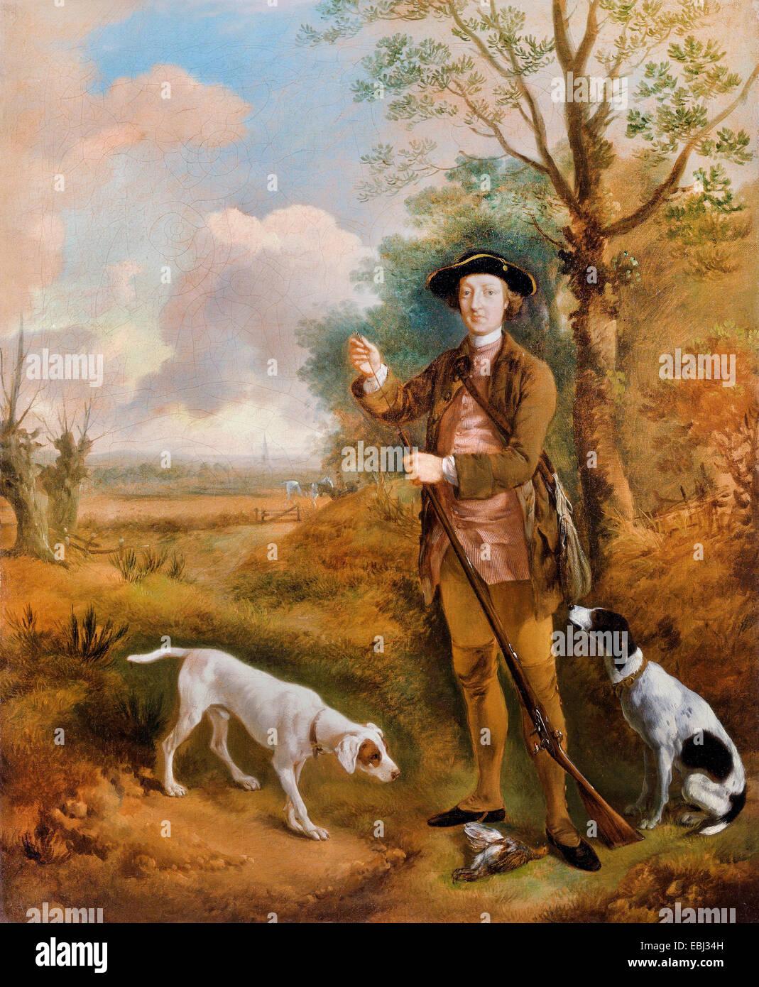 Thomas Gainsborough, Major John Dade, of Tannington, Suffolk. Circa 1755. Oil on canvas. Yale Center for British - Stock Image