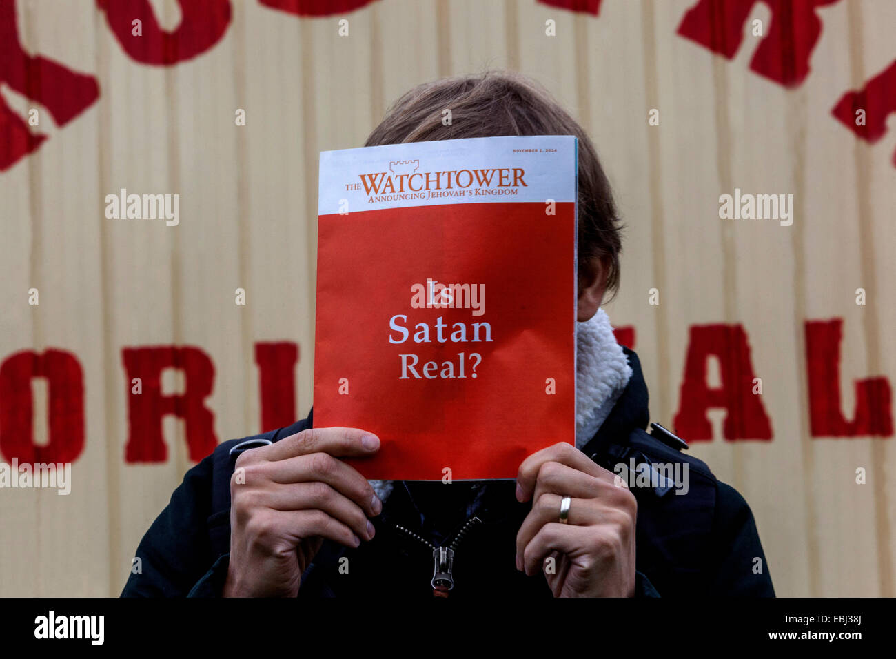 Is Satan real ? watchtower  Jehovah's Witnesses Czech Republic - Stock Image