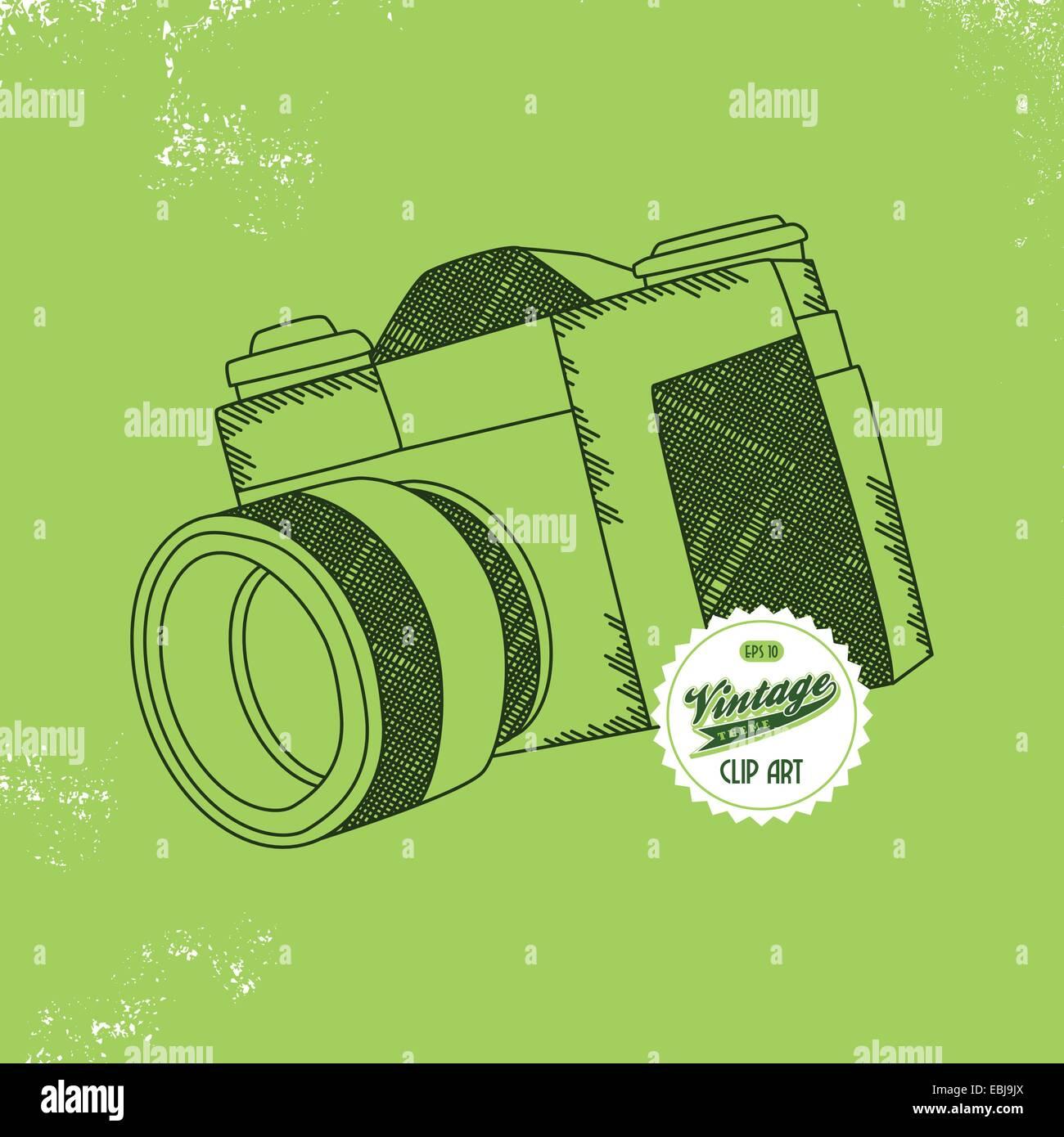 photography camera interface - Stock Vector