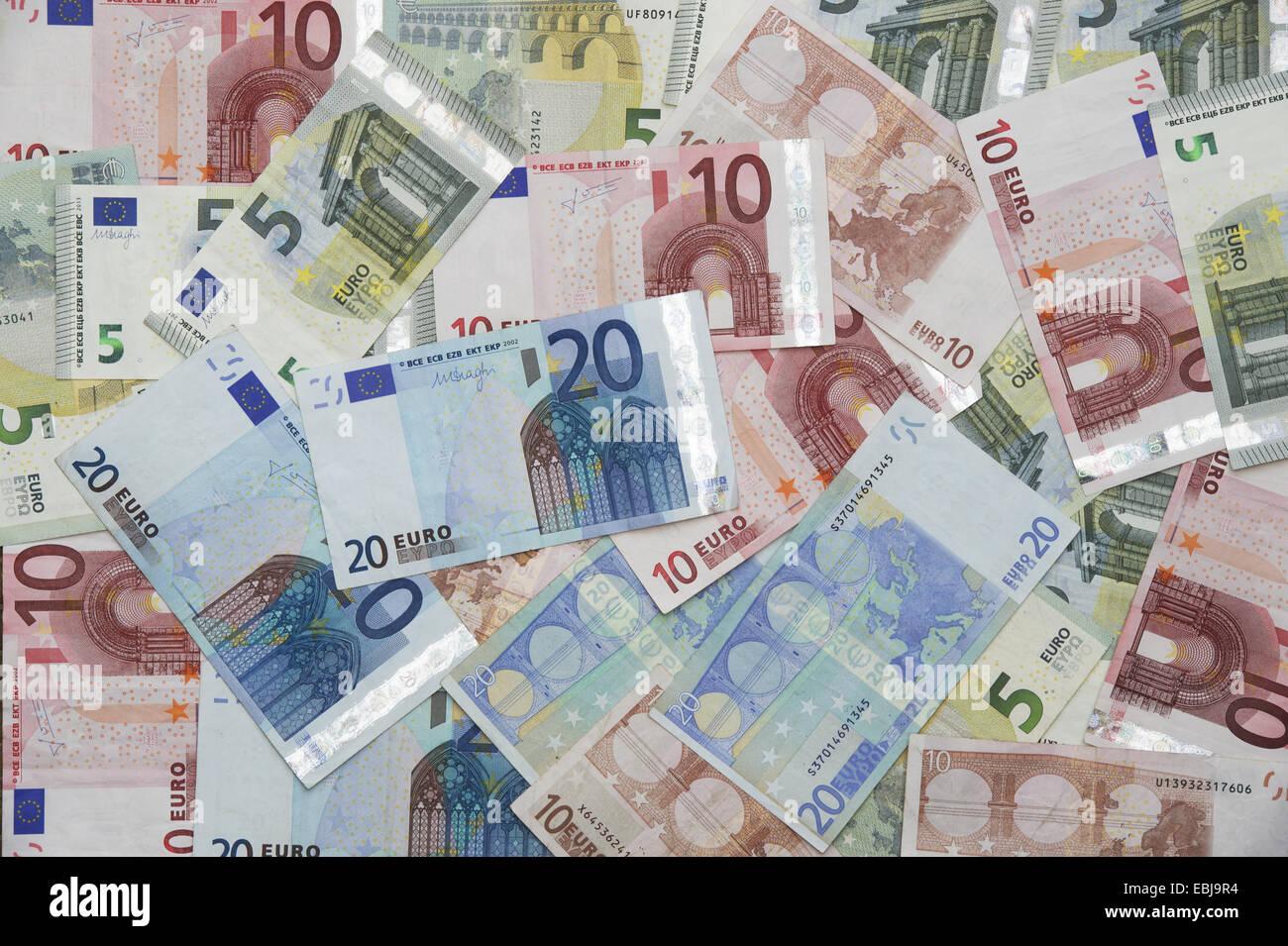 Euro notes. Euros Stock Photo
