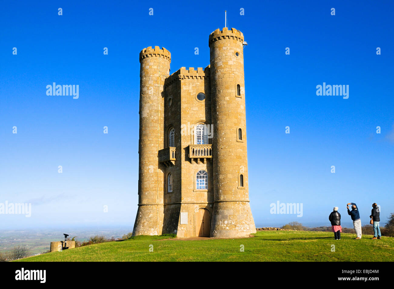 Broadway Tower, Cotswolds, Worcestershire, England, UK Stock Photo