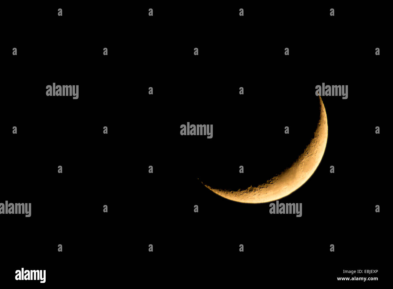 first quarter moon - Stock Image