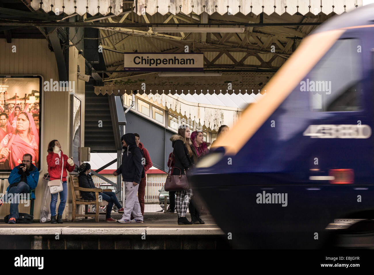 Waiting at the Station - Stock Image