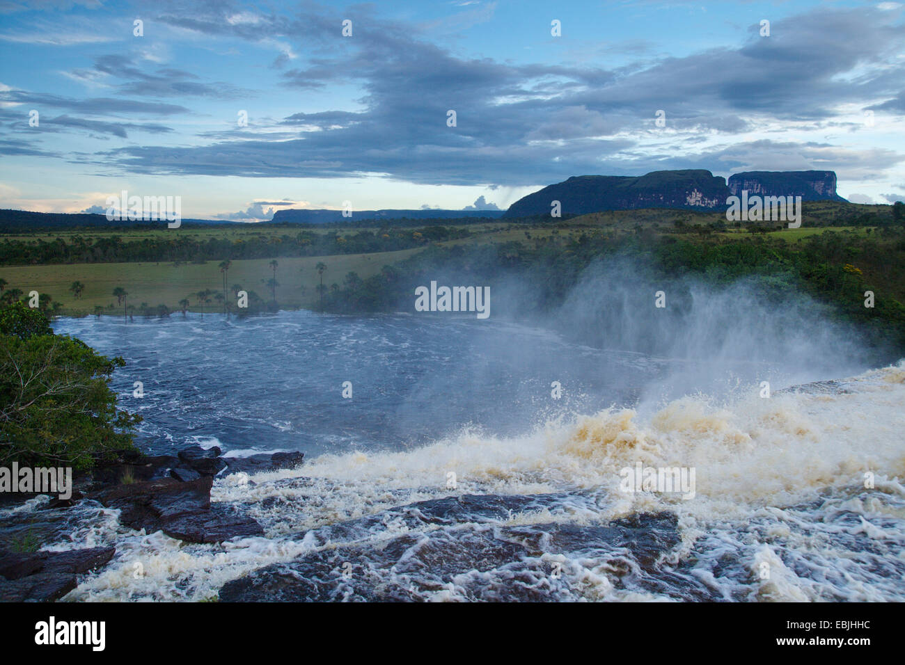at the Salto Sapo near Canaima, Venezuela, Canaima National Park - Stock Image